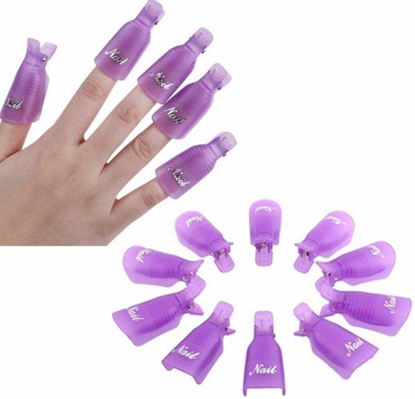 Pinzas Clip de Removedor esmalte uñas